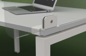 ACRYLIC DESK SIDE SCREEN BRACKET