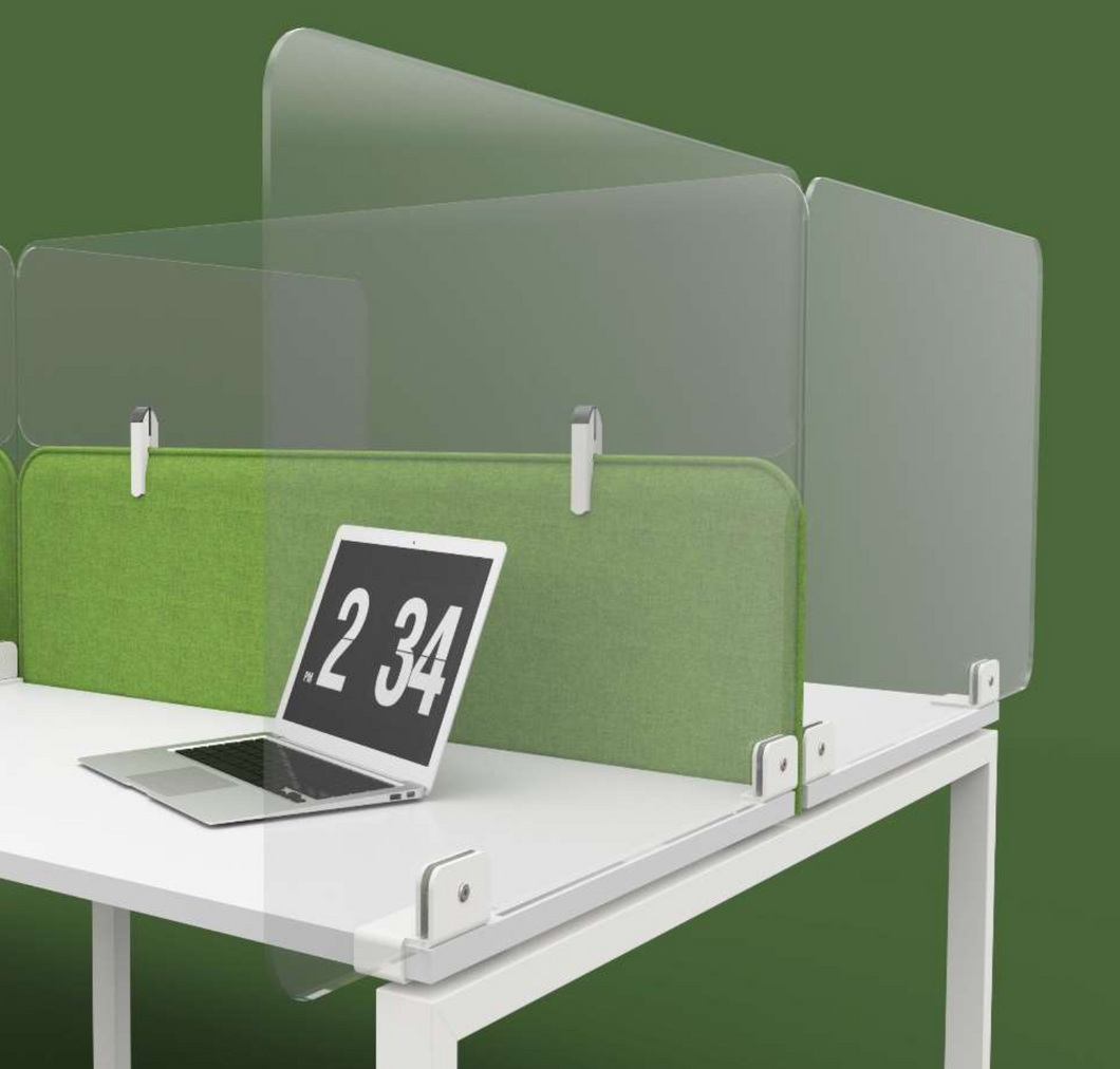 ACRYLIC SIDE DESK DIVIDER SCREEN, 800mm wide, 750mm high