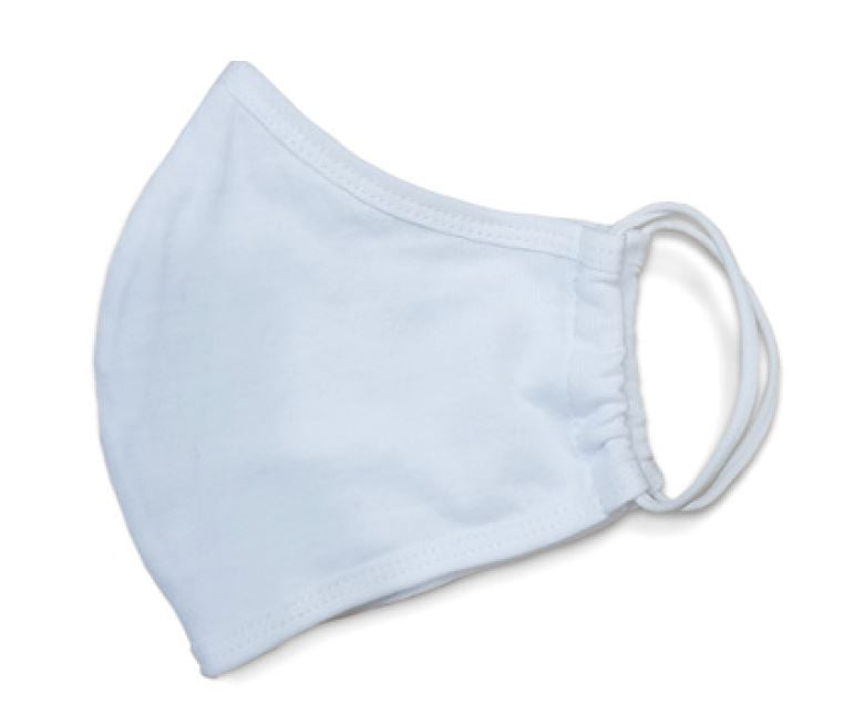 Reusable Civilian Fabric Face Mask in white (Pack of 5) REDUCED PRICE
