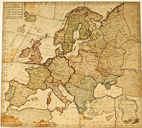 The First Jigsaw Puzzles by John Spilsbury in the 1760s
