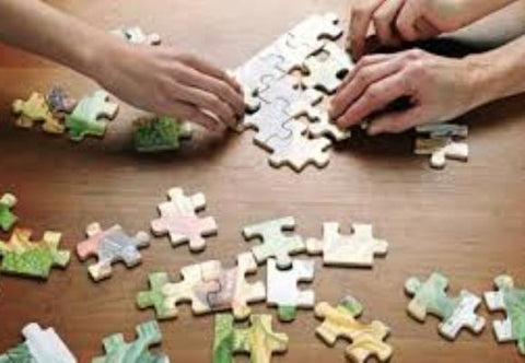 Doing jigsaw puzzles can also be for the whole family