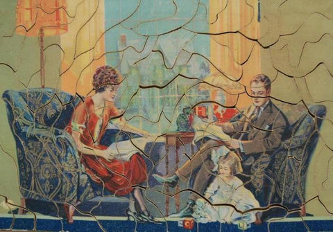 An example of an early 1900s jigsaw puzzle