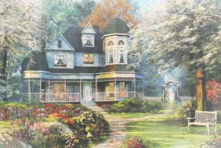 Doing a jigsaw puzzle of your dream house can relieve daily tensions & pressures