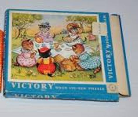 Charming 1960s jigsaw puzzle made by Victory Puzzles