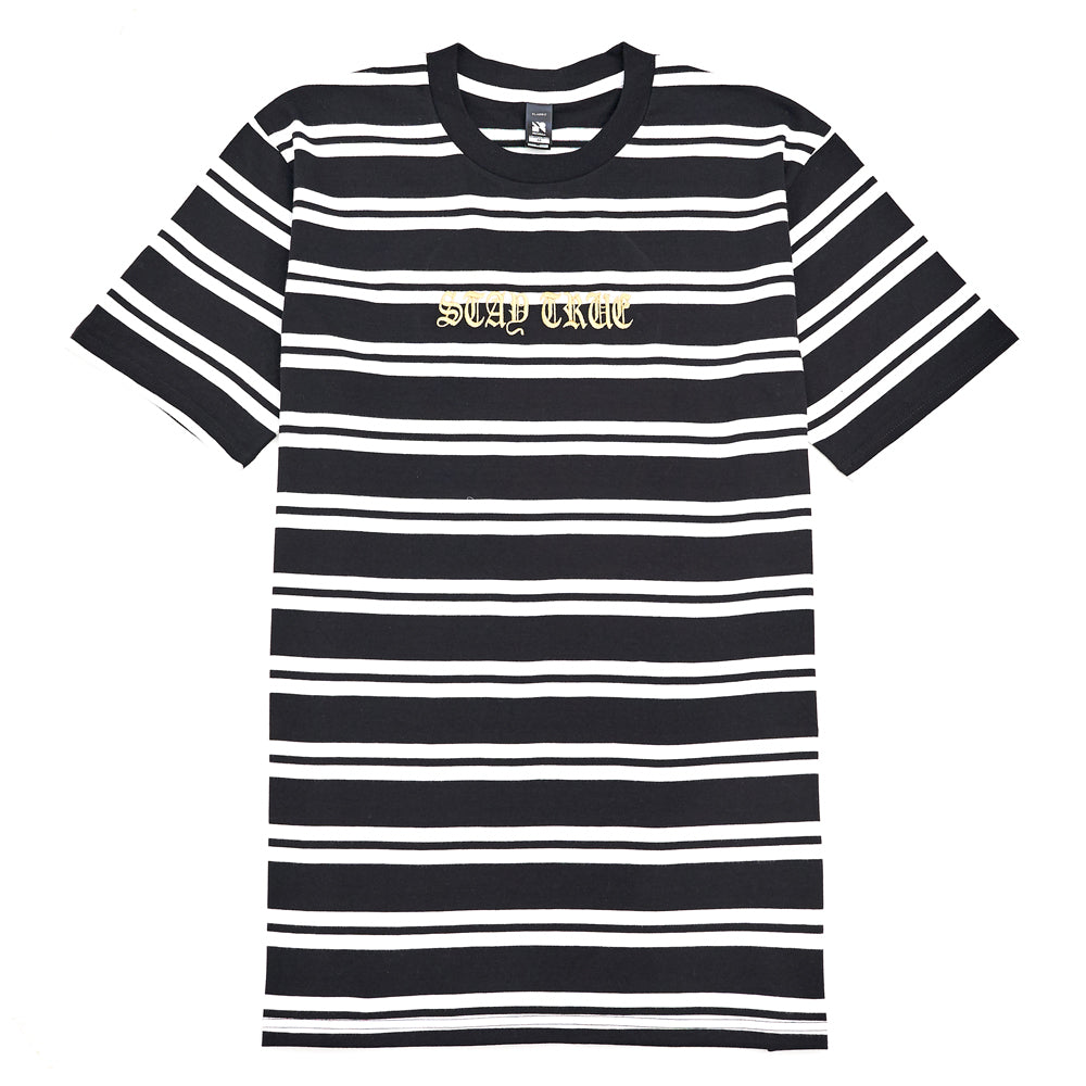 Eighty6 Stay True Embroidered Striped Tee