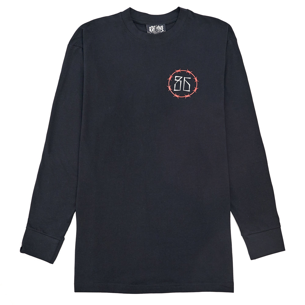 Eighty6 Panther Oversized Longsleeve Tee - Black