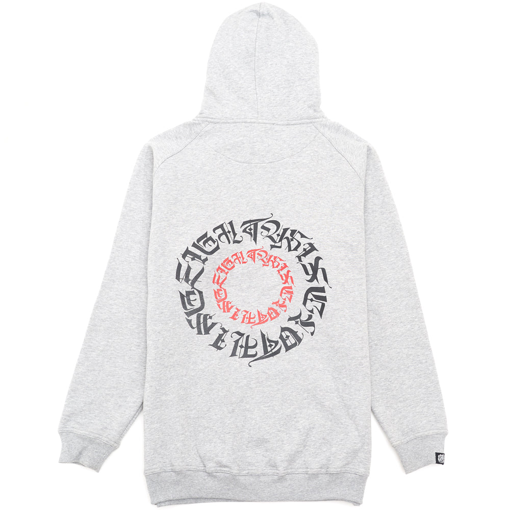 Eighty6 Circle Oversized Hoodie - Grey