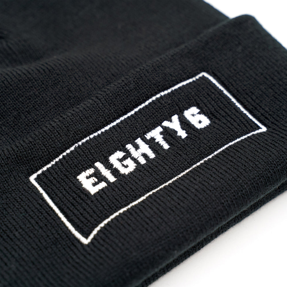 Eighty Block Beanie Cuffed - Black
