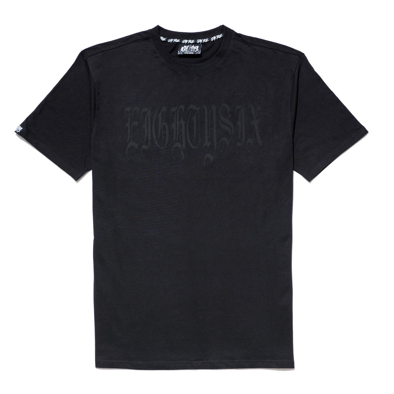 Eighty6 Black on Black Script Tee