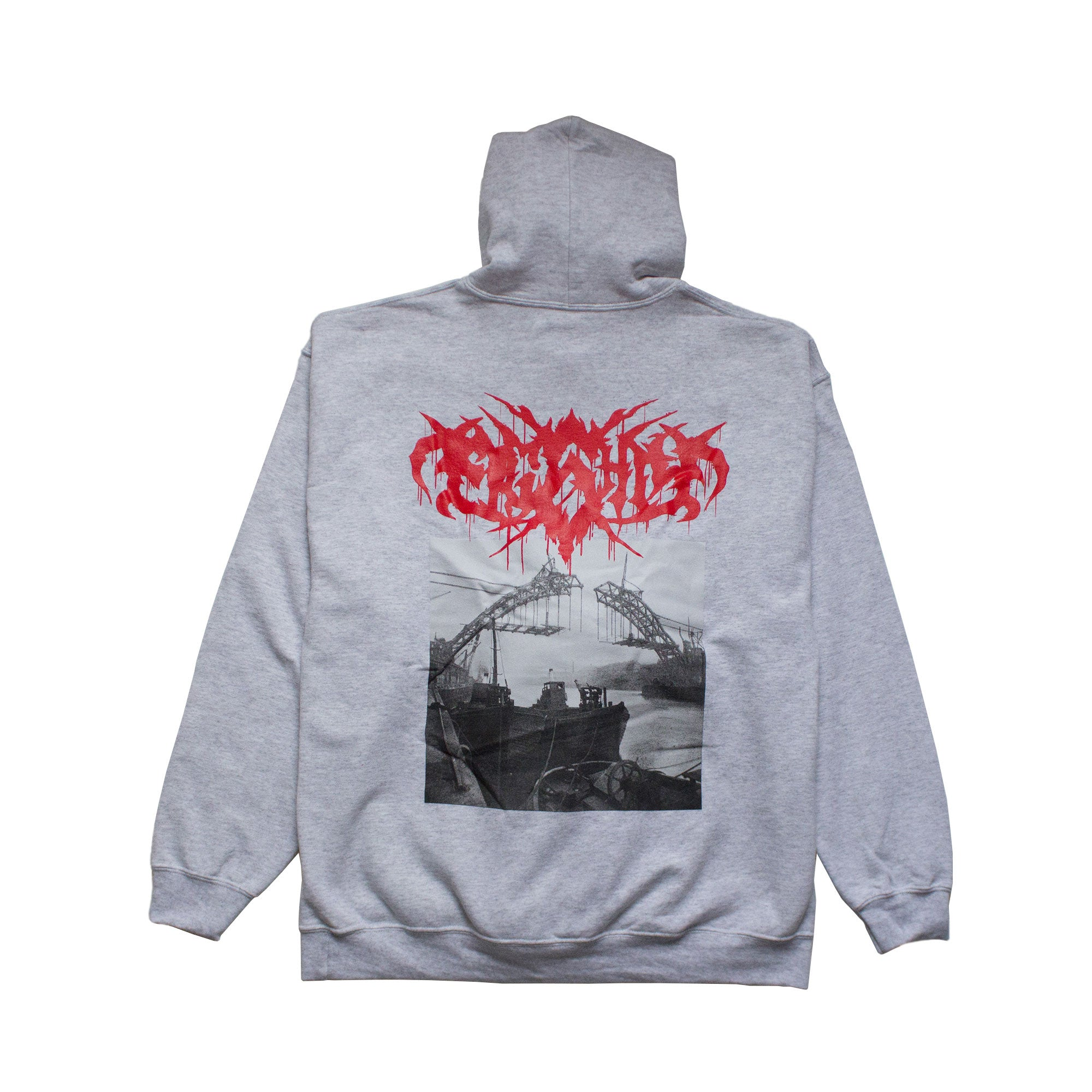 Tyne Bridge Construction Grey Hoodie