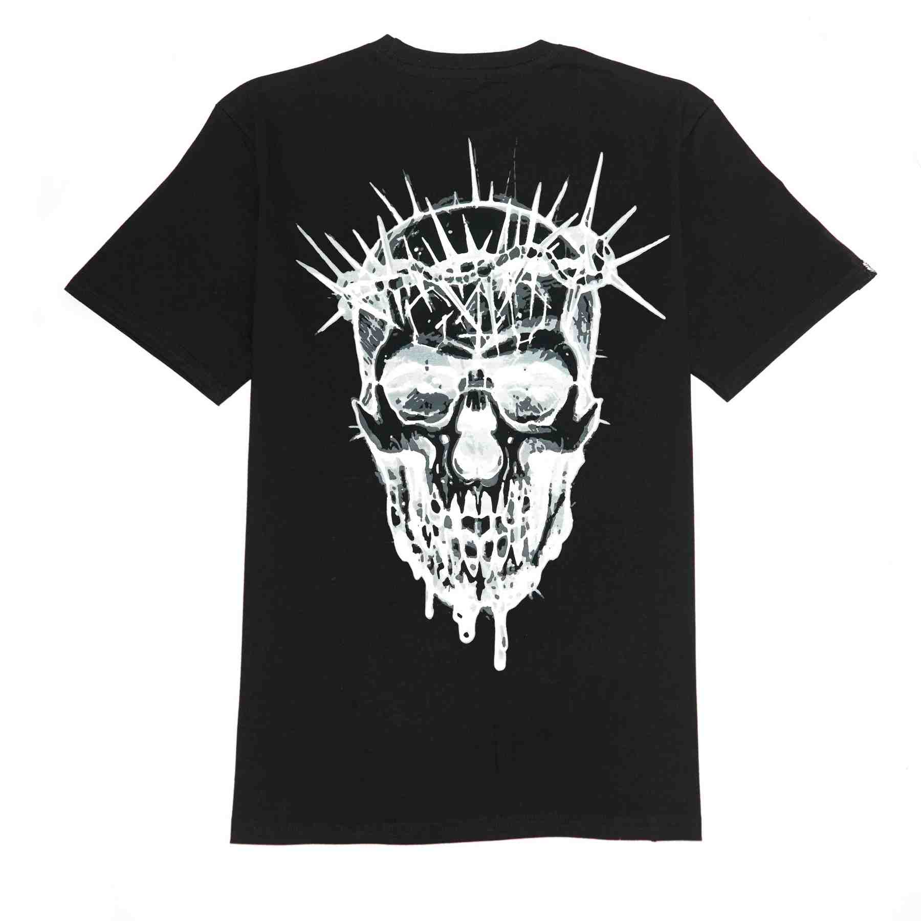 Eighty6 Black Metal Skull Tee