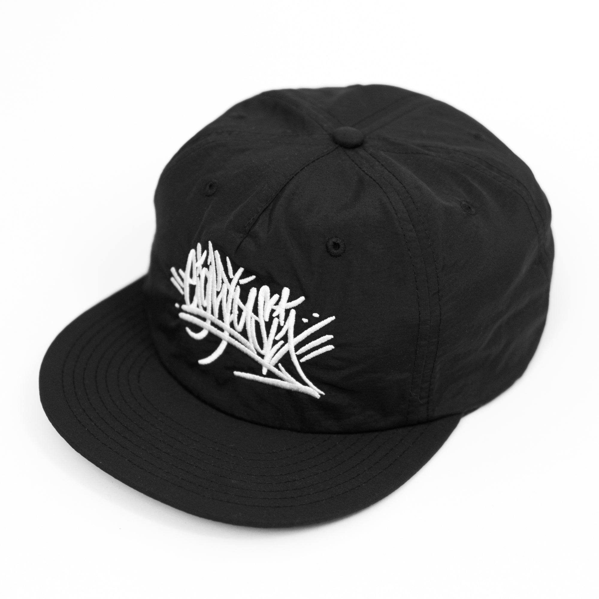 Eighty6 Graffiti Snapback - White on Black