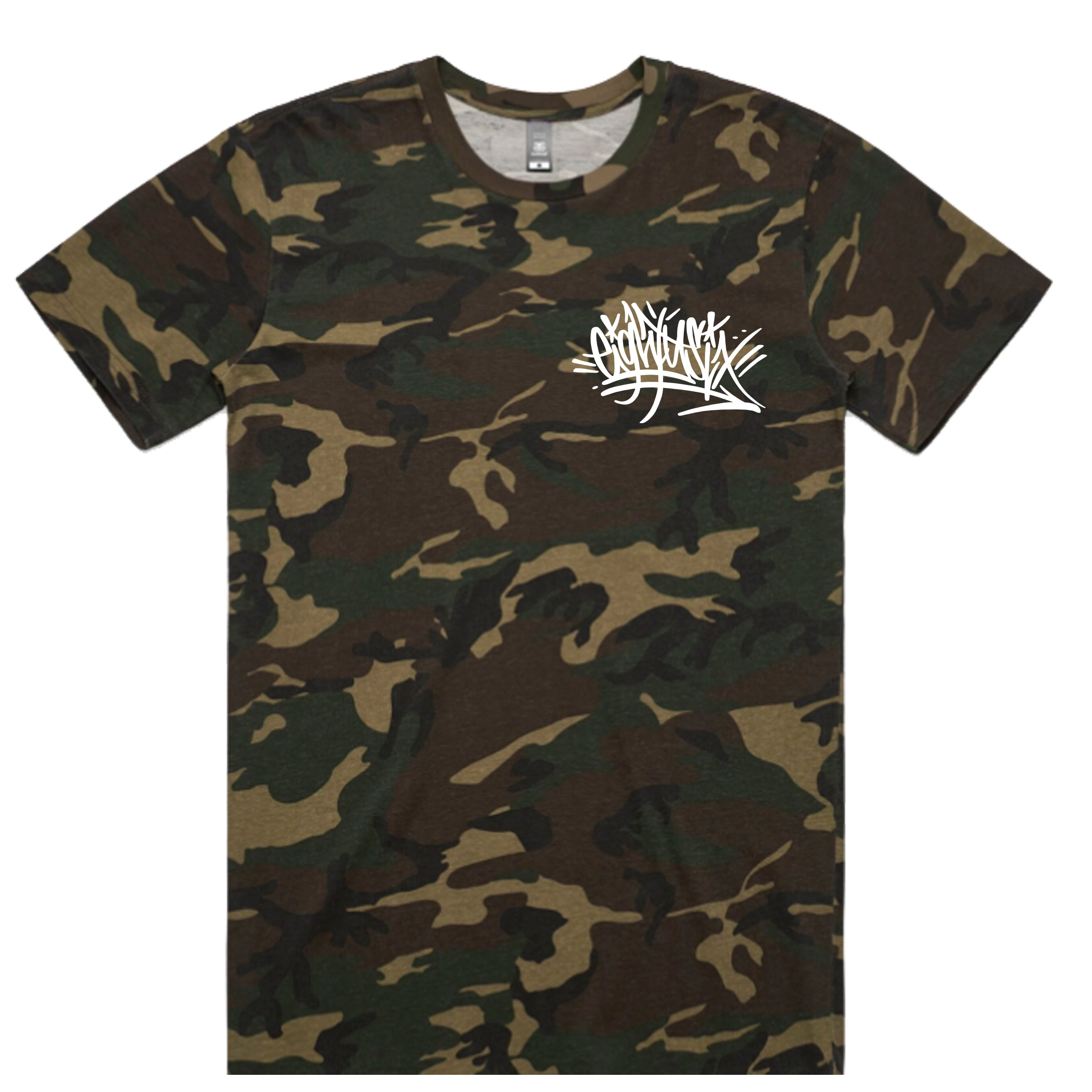 Eighty6 Graffiti Tag Tee - Camo