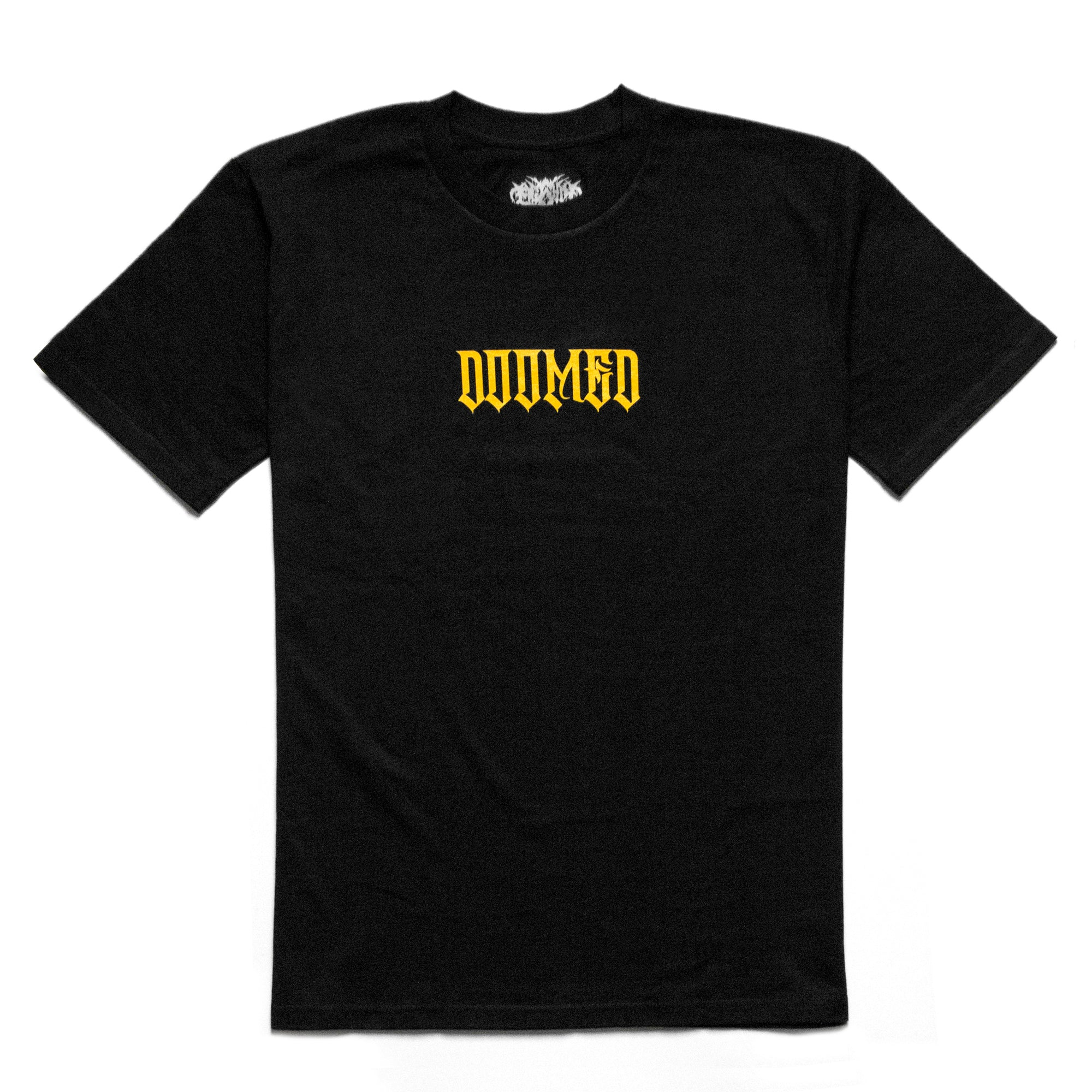 Doomed t-shirt in Black and Gold