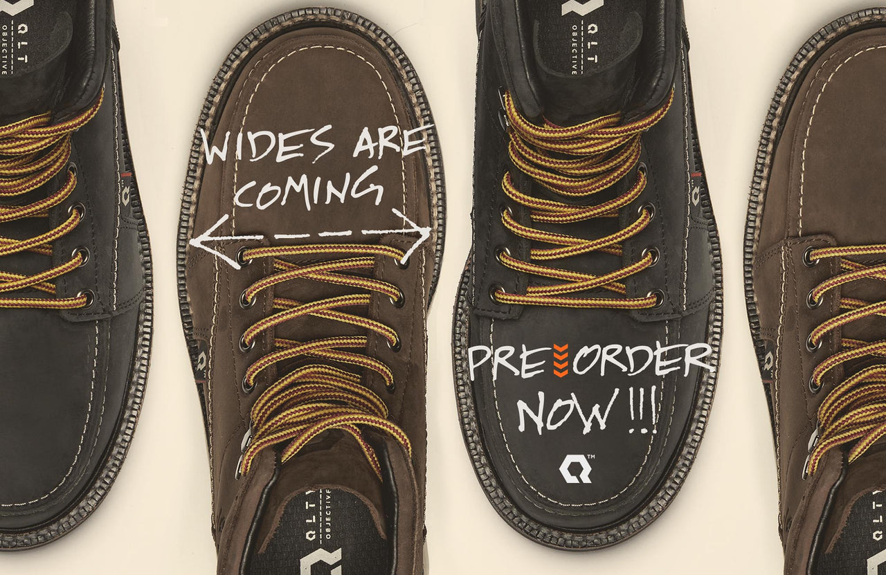 qlty wide ee work boots are coming pre order now