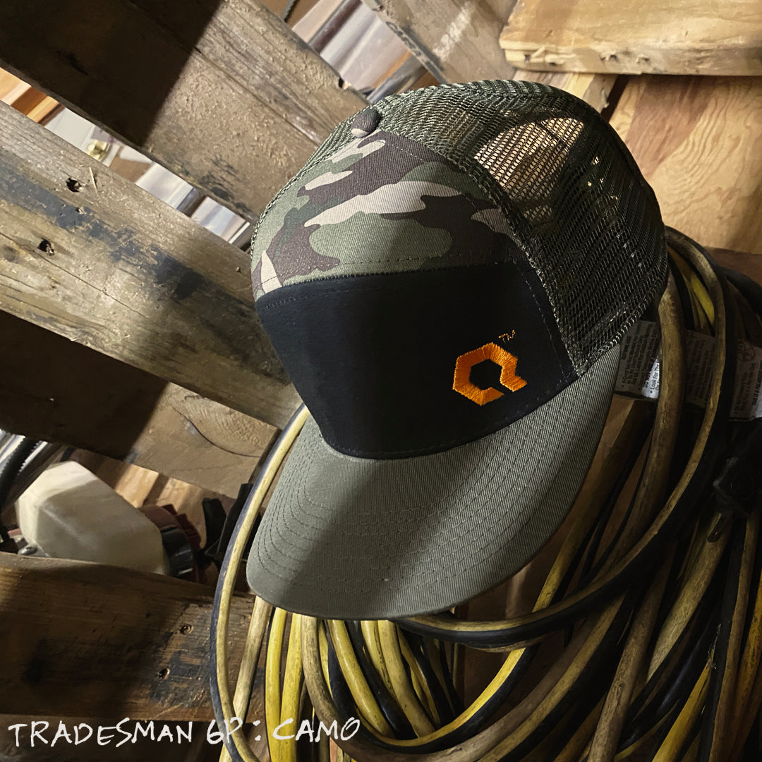 Tradesman 6P Hat : CAMO - QLTY Objective