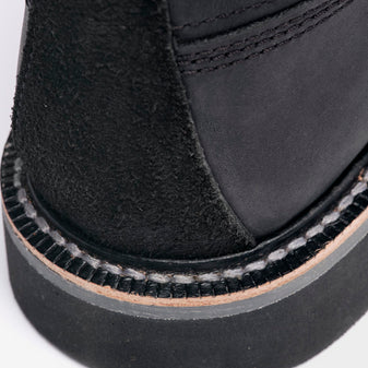 details matter - qltyobjective.com - Our reversed leather heel overlay combined with a large surface leather heel counter helps support and protect the back of the boot from unwanted abrasion marks and adds a unique tone on tone design element.