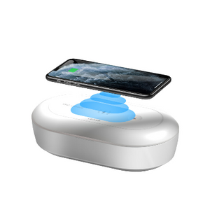 STERILIZERS360 - UV-C Sanitizer kills 99% of Bacteria l Fast wireless charger l Aromatherapy