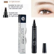 Load image into Gallery viewer, MB New 4 Heads Eyebrow Pen Waterproof Fork Tip Eyebrow  Pencil Long Lasting Professional Fine Sketch Liquid Eye Brow 5 colors