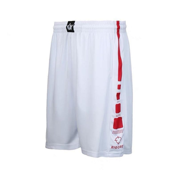 Rigorer Basketball Training Shorts [BS602] Rigorer White-Red XS