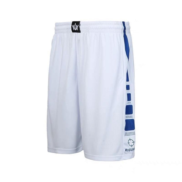 Rigorer Basketball Training Shorts [BS602] Rigorer White-Royal Blue XS