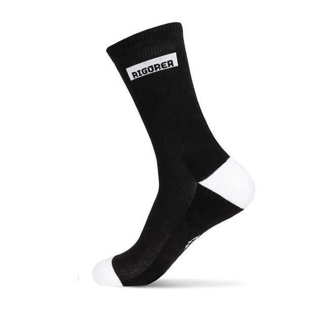 Rigorer Box Logo Crew Sports Socks Rigorer Black ONE SIZE