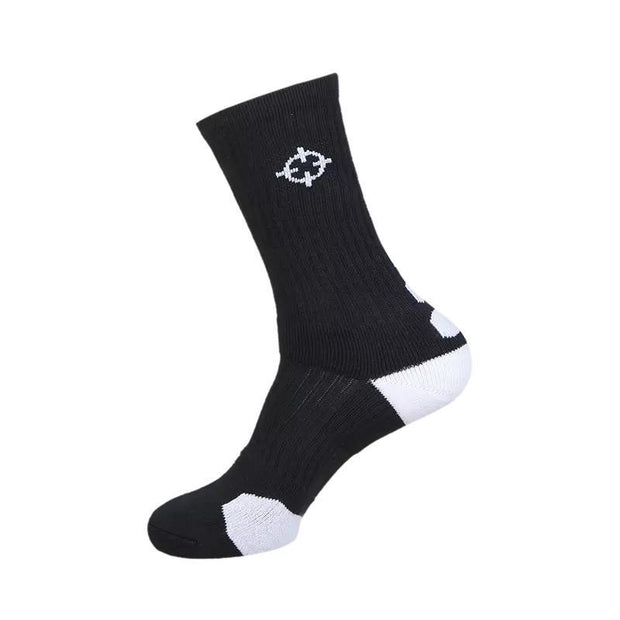 Rigorer Classic Crew Basketball Socks Rigorer Black-White ONE SIZE