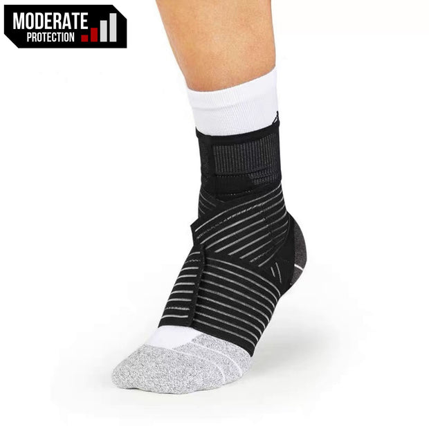 Rigorer Compression Ankle Sleeve w/ Elastic Figure-8 Straps [RA005] Moderate Protection Rigorer
