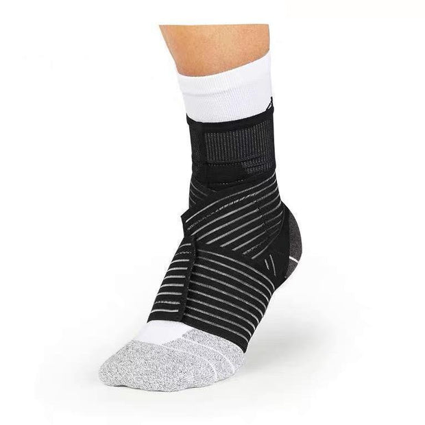Rigorer Compression Ankle Sleeve w/ Elastic Figure-8 Straps [RA005] Moderate Protection Rigorer Black S