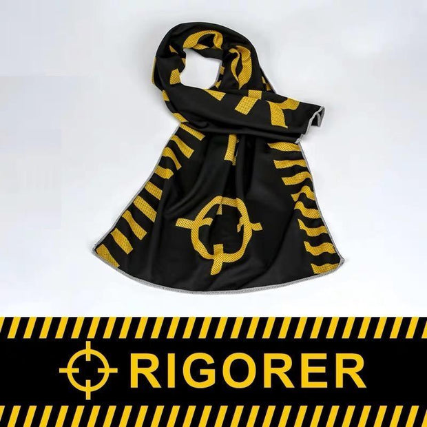 Rigorer Cooling Sports Towel Rigorer Black-Yellow ONE SIZE