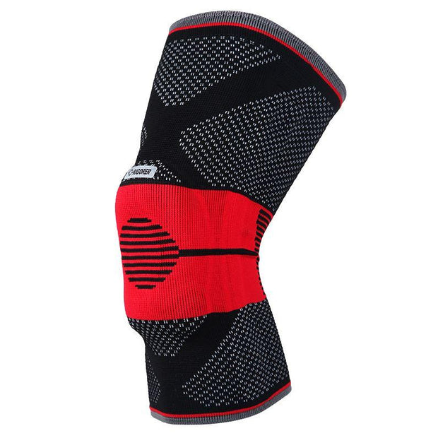 Rigorer Gel-Padded Knee Brace w/ Steel Stays [KB001] Advanced Protection Rigorer Black-Red S