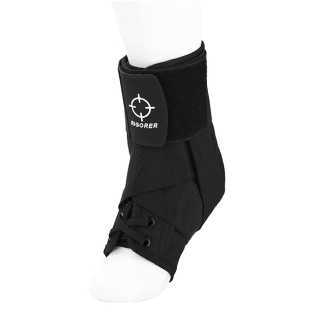 Rigorer Laced Ankle Brace w/ Straps [RA007] Maximum Protection DH-6007 S Black