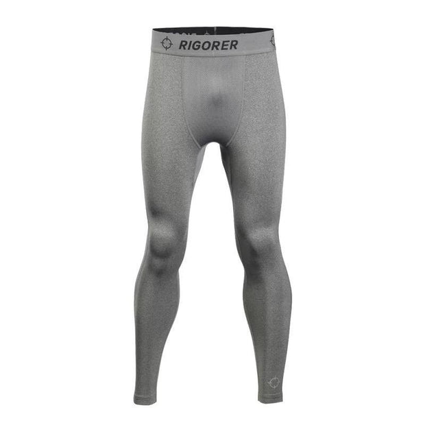 Rigorer Long Training Fleece Tights [LT401] Rigorer S Heather Grey