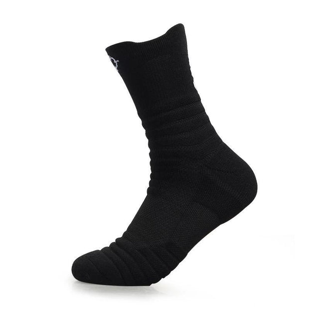 Rigorer Max Cushioned Crew Basketball Socks [W-08] Rigorer Black ONE SIZE