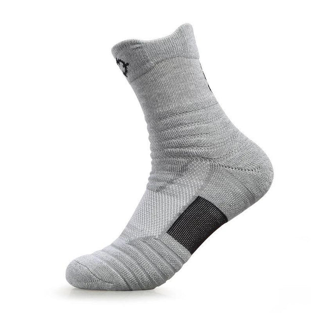 Rigorer Max Cushioned Crew Basketball Socks [W-08] Rigorer Grey ONE SIZE