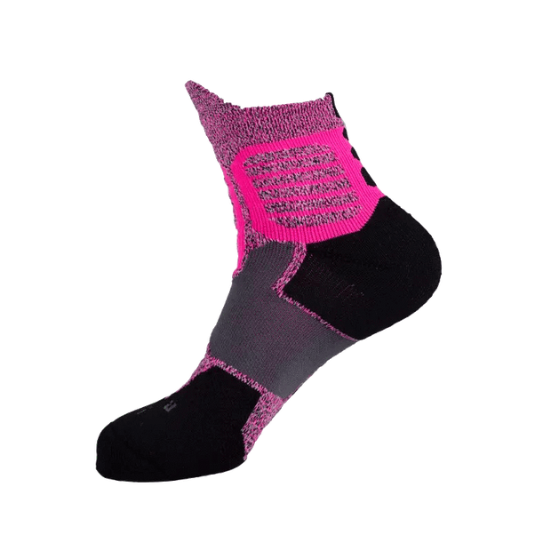 Rigorer Max Cushioned High-Quarter Basketball Socks [W-06] Rigorer Pink-Grey-Black ONE SIZE