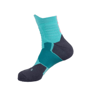 Rigorer Max Cushioned High-Quarter Basketball Socks [W-06] Rigorer Turquoise-Dark Grey ONE SIZE