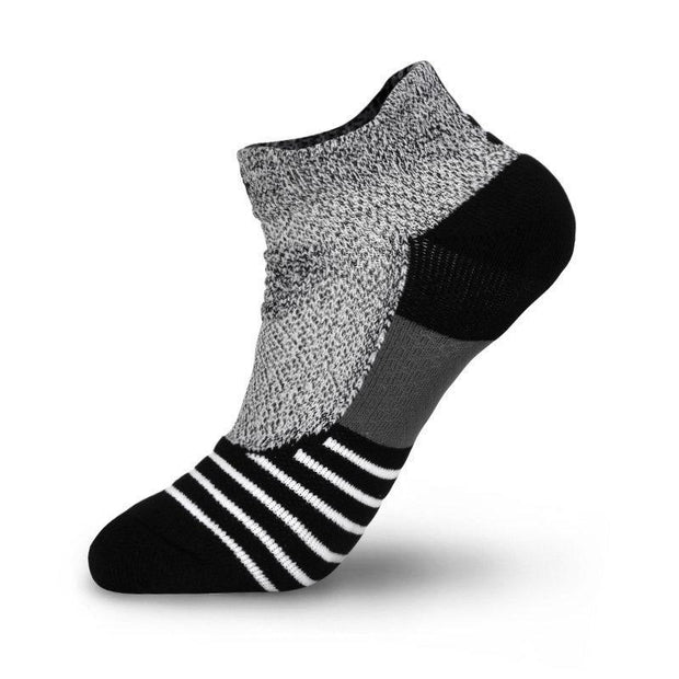 Rigorer Max Cushioned Low Cut Running Socks Rigorer Heather Grey-Black ONE SIZE