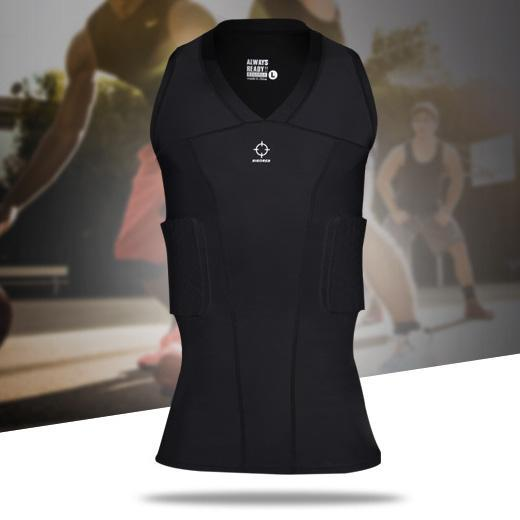 Rigorer Padded Compression Sleeveless Shirt Maximum Protection Rigorer