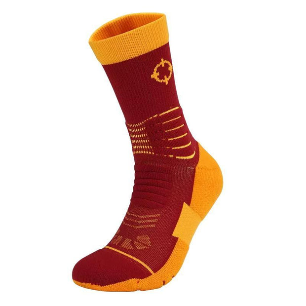 Rigorer Premium Max Cushioned Basketball Socks W/ NBA Teams Colour Scheme Rigorer ONE SIZE Cavaliers