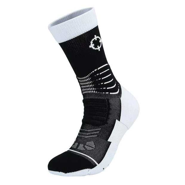 Rigorer Premium Max Cushioned Basketball Socks W/ NBA Teams Colour Scheme Rigorer ONE SIZE Spurs