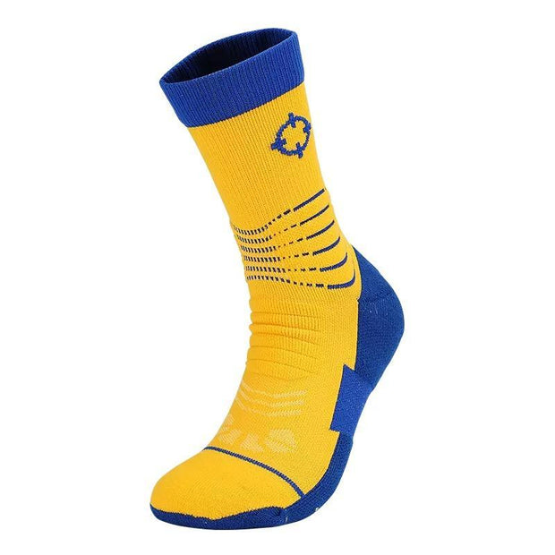 Rigorer Premium Max Cushioned Basketball Socks W/ NBA Teams Colour Scheme Rigorer ONE SIZE Warriors