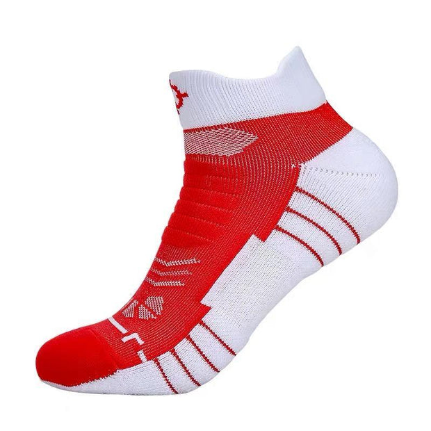 Rigorer Premium Max Cushioned Low Cut Basketball Socks W/ NBA Teams Colour Scheme Rigorer ONE SIZE Rockets