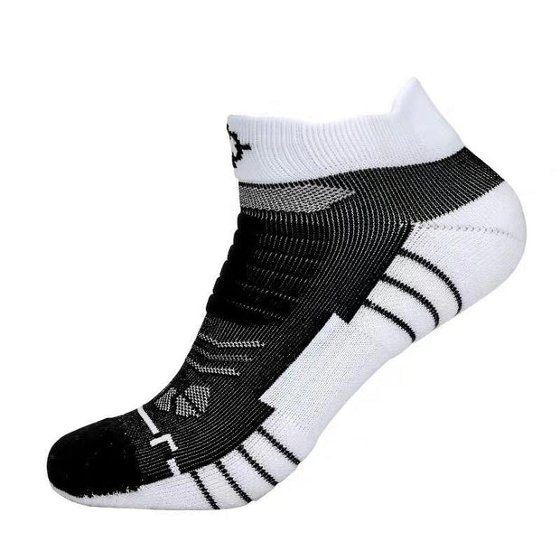 Rigorer Premium Max Cushioned Low Cut Basketball Socks W/ NBA Teams Colour Scheme Rigorer ONE SIZE Spurs