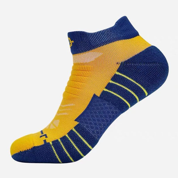 Rigorer Premium Max Cushioned Low Cut Basketball Socks W/ NBA Teams Colour Scheme Rigorer ONE SIZE Warriors