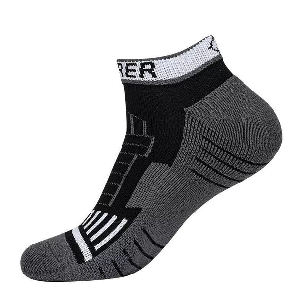 Rigorer Pro Performance Low Cut Basketball Socks Rigorer ONE SIZE Black-Grey-White