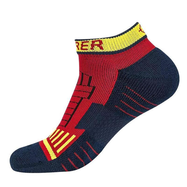 Rigorer Pro Performance Low Cut Basketball Socks Rigorer ONE SIZE Red-Black-Yellow
