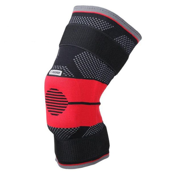 Rigorer Upgraded Gel-Padded Knee Brace w/ Steel Stays [KB009] Advanced⁺ Protection Rigorer Black-Red S