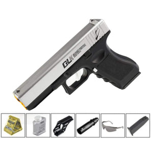 RX Manual Mag-Fed Glock G18 – Black and Silver