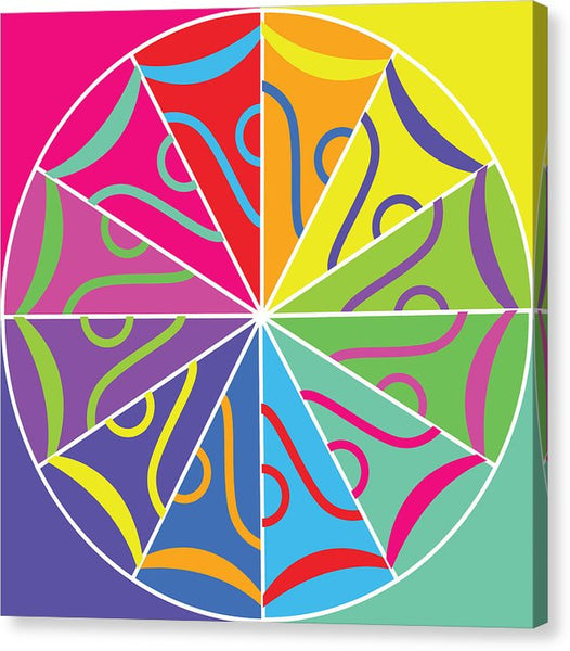 A Rainbow Artwork - Canvas Print - Designs by ndiso